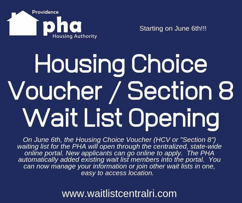 Pha Wait List Online Providence Housing Authority