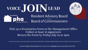 Resident Representative Recruitment