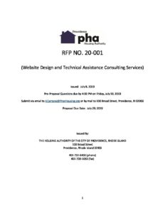 RFP for Website-20-001-Final | Providence Housing Authority